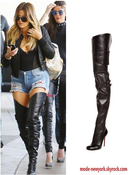 Khloe Kardashian porte les cuissardes bye Christian louboutin