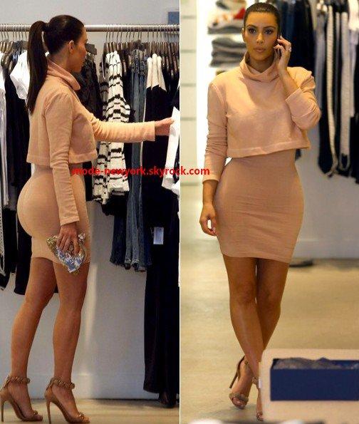 kim kardashian très sublime de la tête au pied