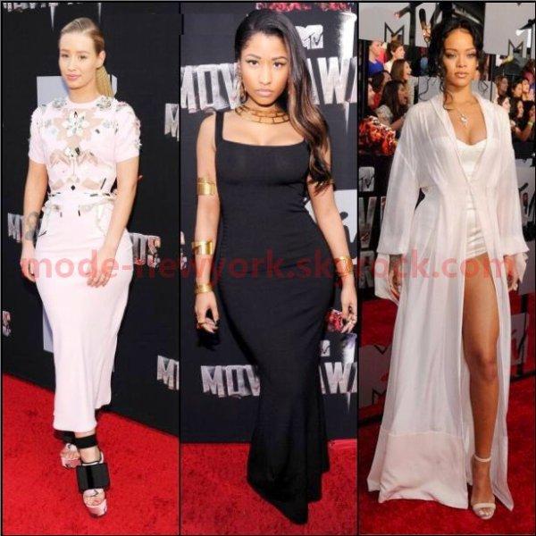 Iggy Azalea, Nicki Minaj, Rihanna ( la plus belle tenue ? )