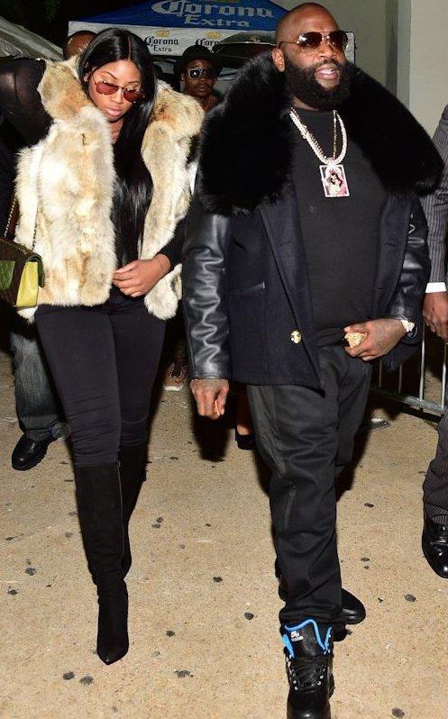 Rick Ross avec son style hip-hop à sorti avec sa petite amie
