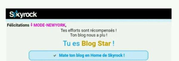Merci SKYROCK de m'avoir nommé BLOG STAR