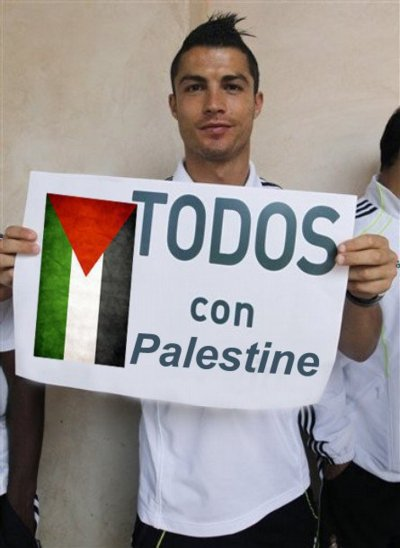 cristiano ronaldo in palestine <3
