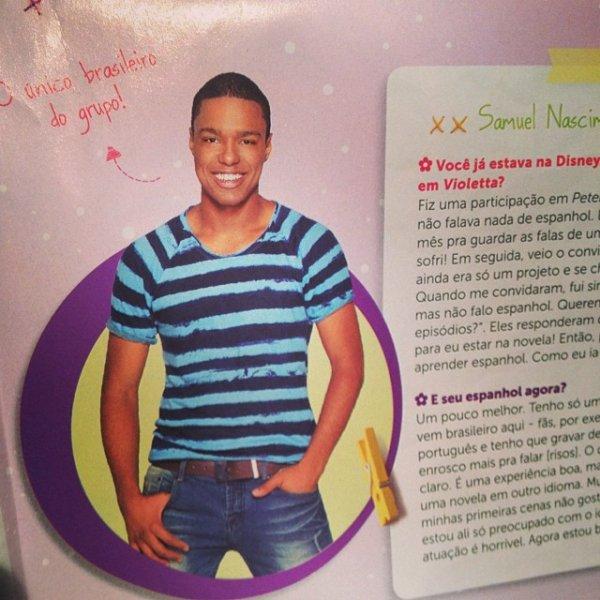 Poza cu Samuel intr-o revista