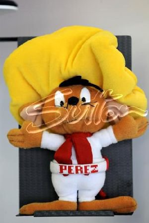 Mascotte de Perez, au GP de Turquie