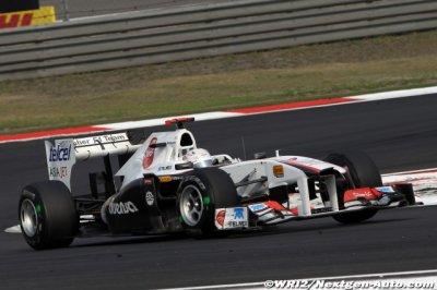 Kamui Kobayashi et l'équipe Sauber