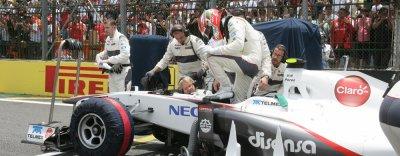 Sergio Perez satisfait de sa performance, pas des résultats