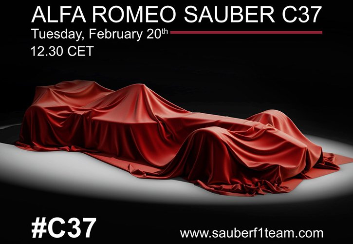 Sauber précise l'heure de présentation de sa C37