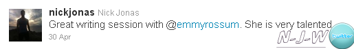 Nick Jonas travaille avec Emmy Rossum!
