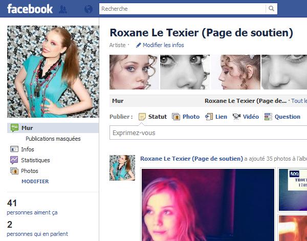 Roxane Le Texier : Page de Soutien !
