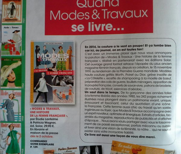 Modes &Travaux : le livre !!!!