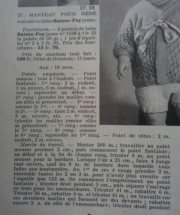 Pour tricoter ...dans les années 40 ...
