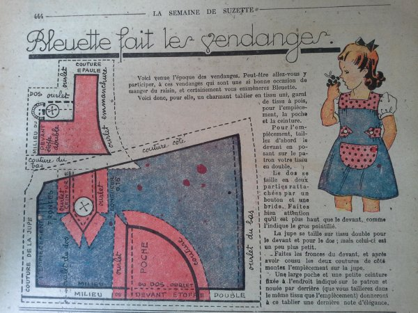 La semaine de Suzette et Bleuette en 1946-47...