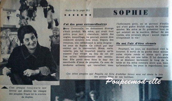 Femme d'Aujourd'hui...L'histoire de Sophie...