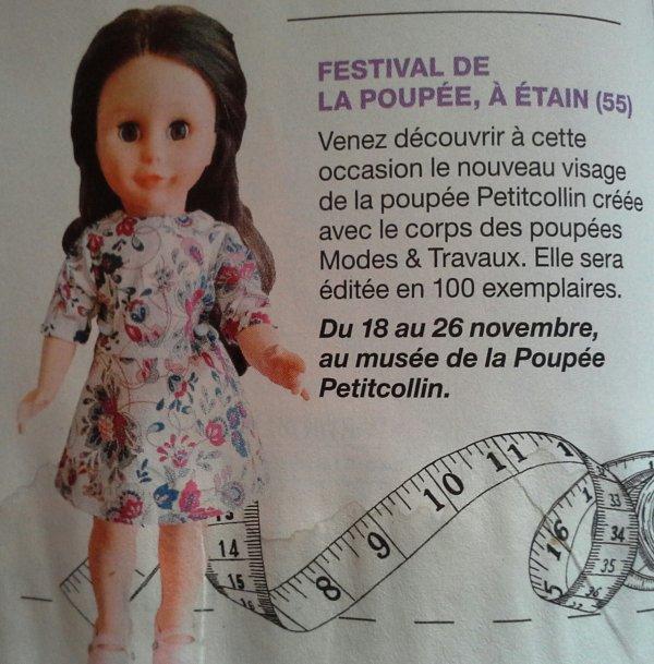 MTX -novembre 2017 ..une poupée en édition .. limitée