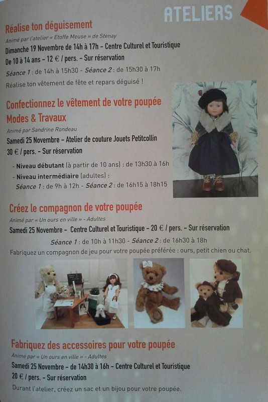 Au festival de la poupée d'Etain...2 créatrices à découvrir....