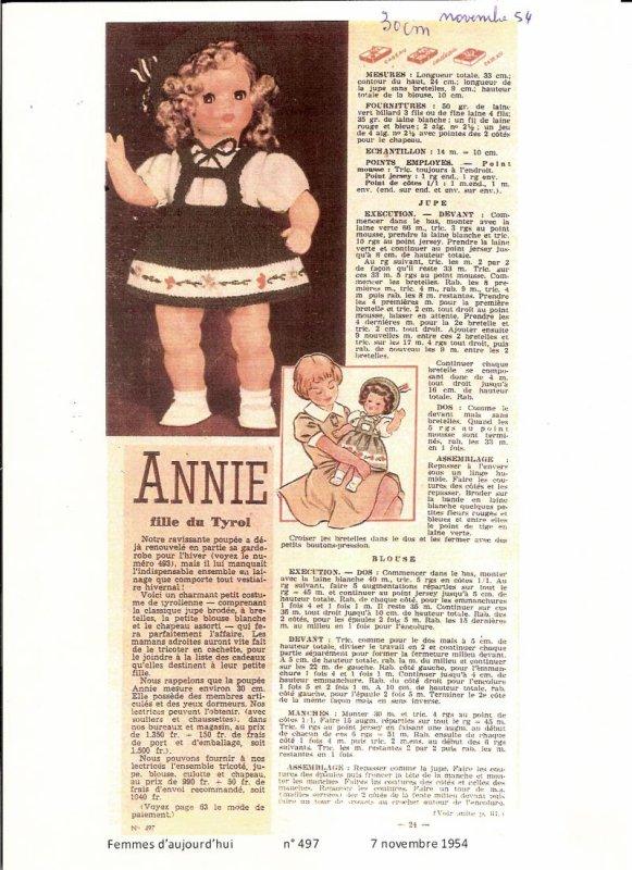 Réponse à la devinette : Annie bien sûr !!!-1/2-