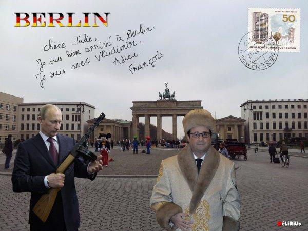 """Spécial """"Hollande, Merkel et Poutine se retrouvent à Berlin pour un sommet sur la Syrie. Une rencontre en terrain miné"""" - Image n° 4/4 !..."""