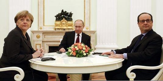 """Spécial """"Hollande, Merkel et Poutine se retrouvent à Berlin pour un sommet sur la Syrie. Une rencontre en terrain miné"""" - Image n° 1/4 !..."""