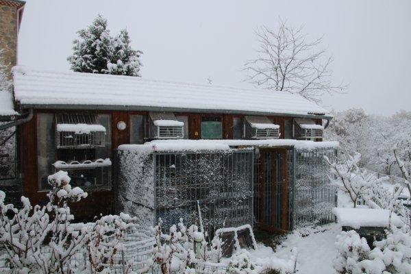 Premières neiges en Ardéche