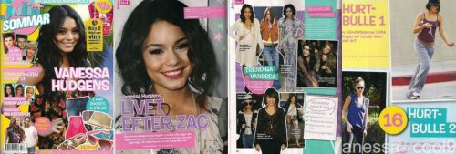 "Scan de Vanessa dans le magazine ""Julia"" + Nouvelle photo Facebook."