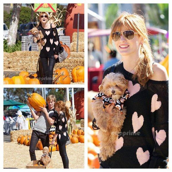 Bella et Tristan allant acheter des citrouilles pour Halloween le 14 octobre 2012