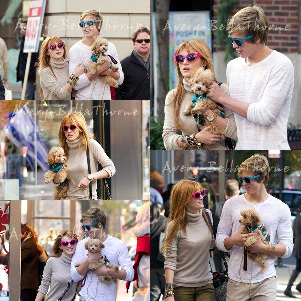 Bella et Tristan dans les rues de Chicago et dans une calèche le 18 novembre.