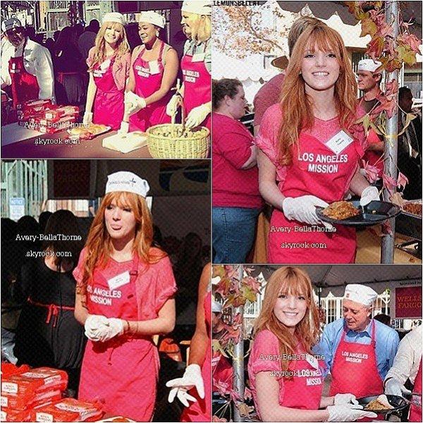 Bella et Tristan au Los ANGELes Mission ( bénévolat ) le 21 novembre 2012 .