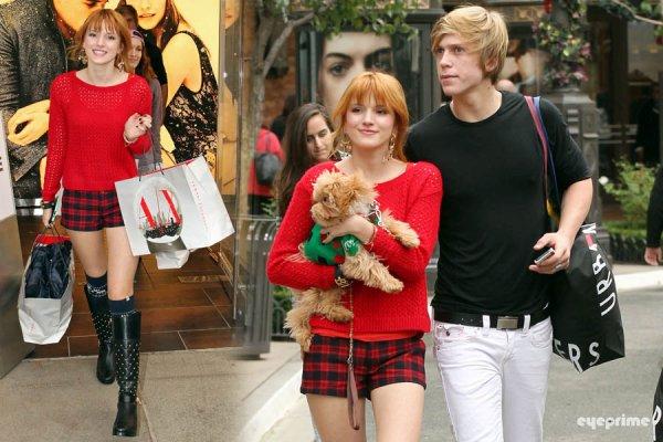Bella, Dani, Kingston, Tamara Tristan et le copain de Dani ont été faire les magasins à Glendale le 16 décembre