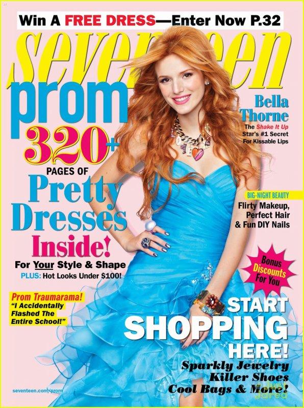 Bella & Zendaya en fait la couverture du magazine Seventeen pour les robes du Soir .