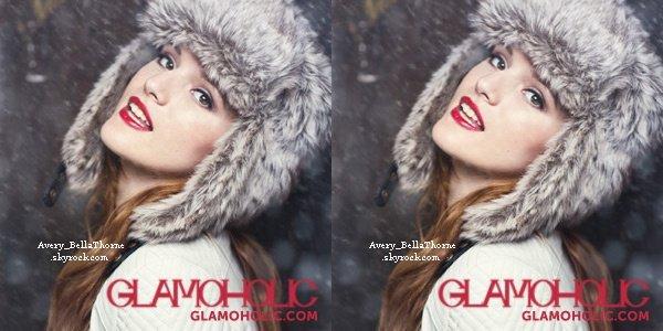 Bella en couverture du magazine Glamoholic du mois de janvier 2013