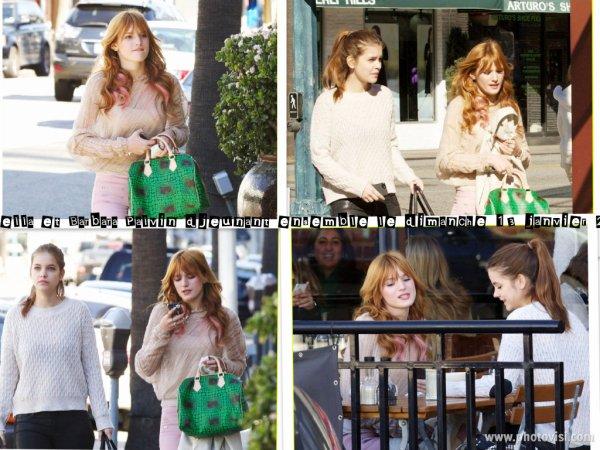 Bella et Barbara Palvin déjeunant ensemble le dimanche 13 janvier 2013.