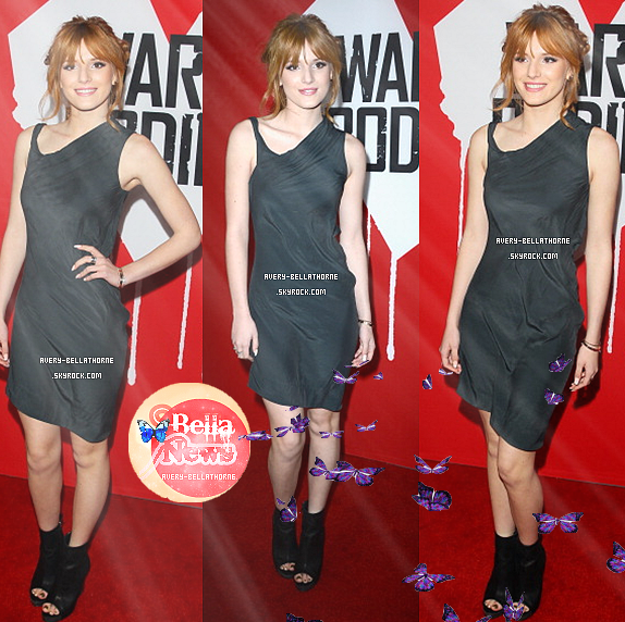 "bella thorne au""Warm Bodies"" - Los Angeles Premiere / 29 janv. 2013 ."