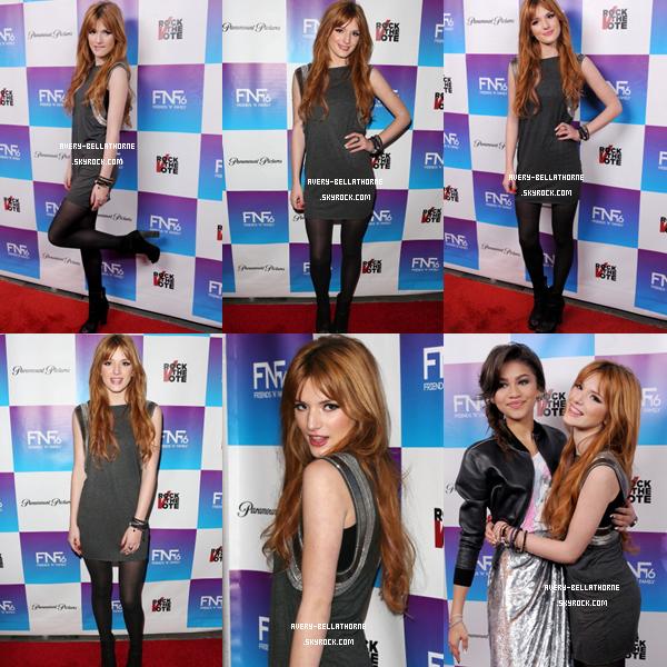 Bella à la fête des pré-Grammy le 8 février 2013.