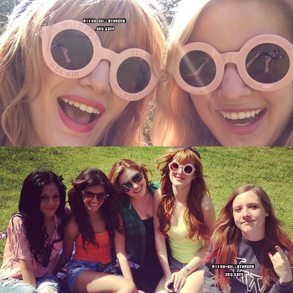 17/03/13. Bella accompagnées de familles & amis dans Griffith Park à Los Angeles .