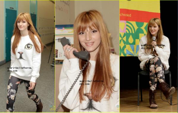 Le 19/03 : Bella se rend à une école !!