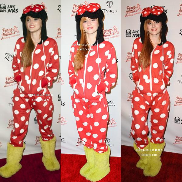 Bella en Perez Hilton's Birthday qui fête ses 35 ans  !!! (23/03)