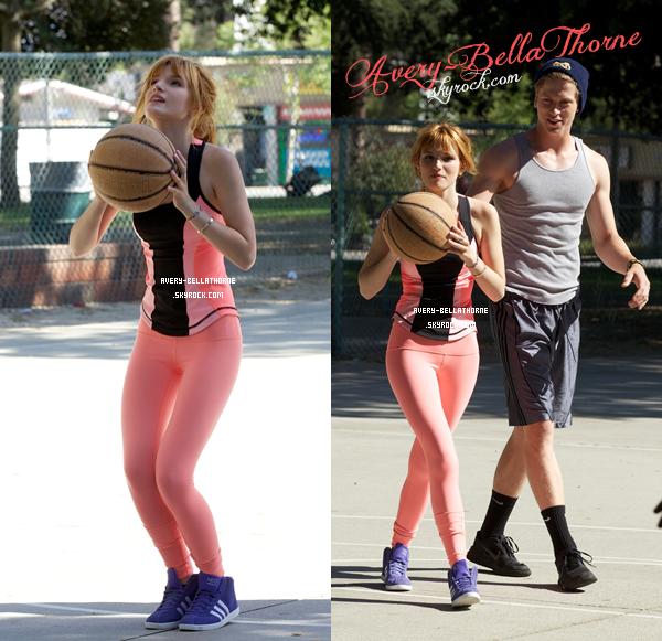 Bella et Tristan ont été vus au parc faisant du sport le 8 avril 2013.