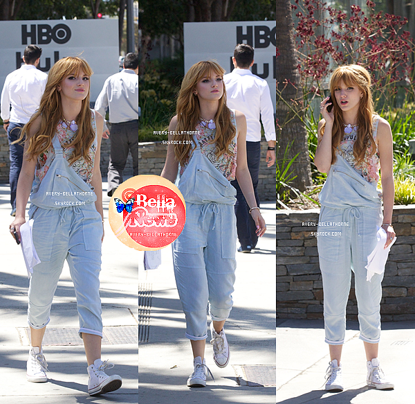 Bella Thorne au Hbo office à Santa Monica et en allant sur le plateau de Young Hollywood -le 10 Avril ,2013