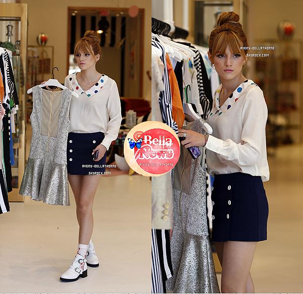 Bella dans les rues de Beverly Hills et faisant du shopping à H&M le 11 avril 2013.