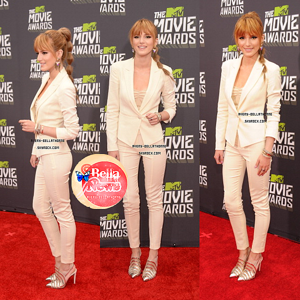 Bella au Mtv Movie Awards le 14 Avril 2013