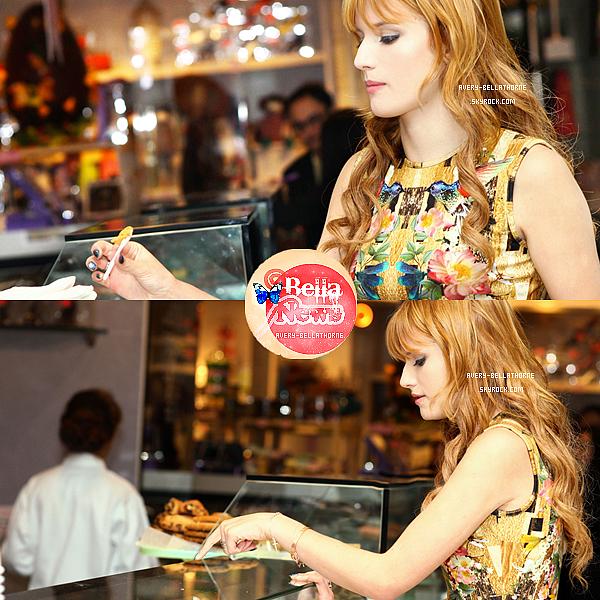 Bella achetant une glace au Sugar et Plumm de New York le 1 mai 2013.