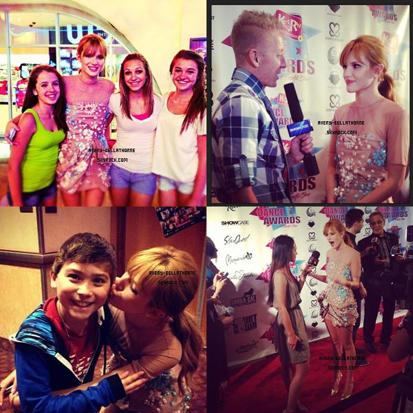 Bella sur le tapis rouge des KarTV Dance Awards - Las Vegas - 3 juillet 2013.