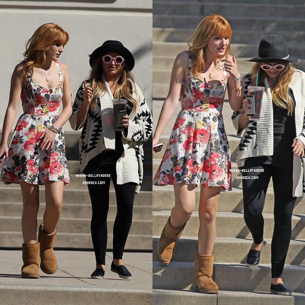 Bella était sur le set d'Alexander à Pasadena le 12 octobre 2013.