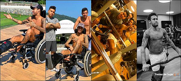 12 mars 2018: ▬Nasser Al-Khelaïfi et Antero Henrique rendaient visite à Neymar au Brésil, dans sa villa. Aucune info sur son retour en France. Il aimerait jouer les derniers matchs de la saison... Espérons qu'il soit au moins là pour fêter le titre !