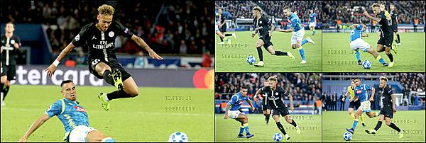 24 Octobre 2018: ▬Le PSG recevait Naples à l'occasion de la troisième journée de Ligue des Champions. (2-2) Napoli avait ouvert le score mais Paris avait égalisé à l'heure de jeu sur un csc récompensant sa bonne entame. Mertens avait bien cru donnerla victoire au Napoli mais Di Maria est sorti de sa boîte au meilleur moment. Bonne performance de Neymar dans l'ensemble.