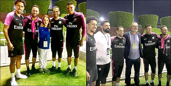 14 Janvier 2019: ▬Neymar, Buffon, Di Maria et Thiago Silva tournaient une pub sur les persévérances des sportifs. Pour clôturer cette première journée de stage, une séanced'entrainement s'est déroulée sur les terrains de l'Aspire Zone en début de soirée.