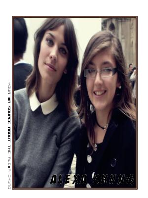 Le mercredi 6 octobre j'ai eu le plaisir de rencontrer Alexa à la sortie du défilé Louis Vuitton au Louvres.