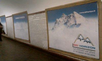 SkiHorizon s'affiche dans le métro parisien