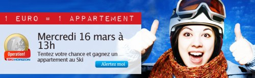 1 Euro = 1 Appartement au ski