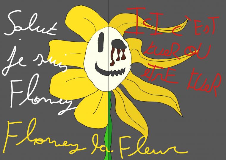 Howdy i'm flowey ... flowey the flowers